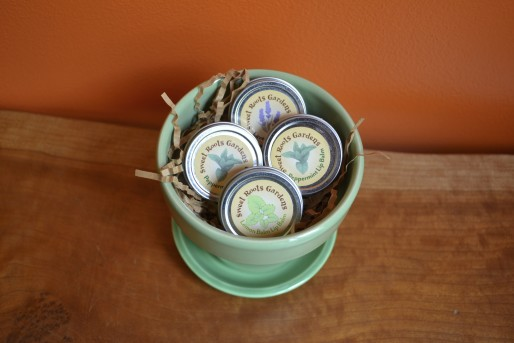 lip balms green pot